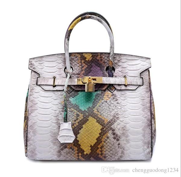 Damen Handtasche Dame Handtaschen in Europa und die große Schlange Platin Leder Handtasche heißen Stil Hand die Frachtbrief sh