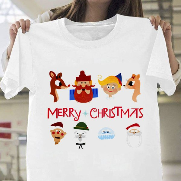 Rudolph The Red Nosed Reindeer T Shirt Men's White Cotton S-3XL US Supplier size discout hot new tshirt