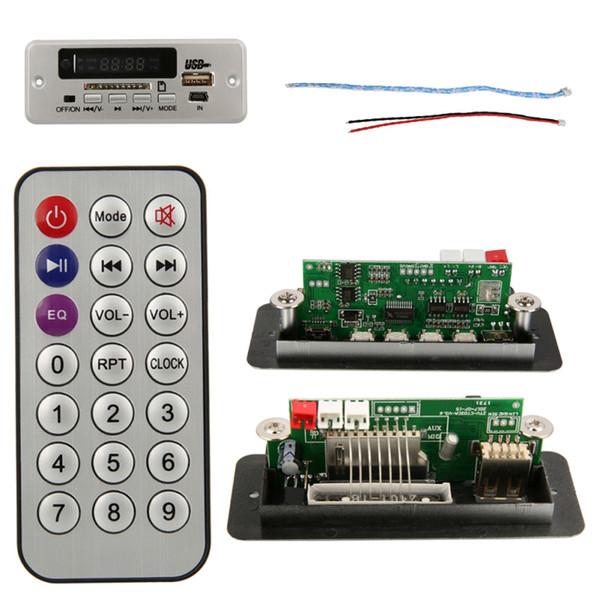 EDAL ZTV-CT02B (02EA) Display a LED rosso digitale USB TF Radio Modulo audio MP3 con telecomando Nuovo