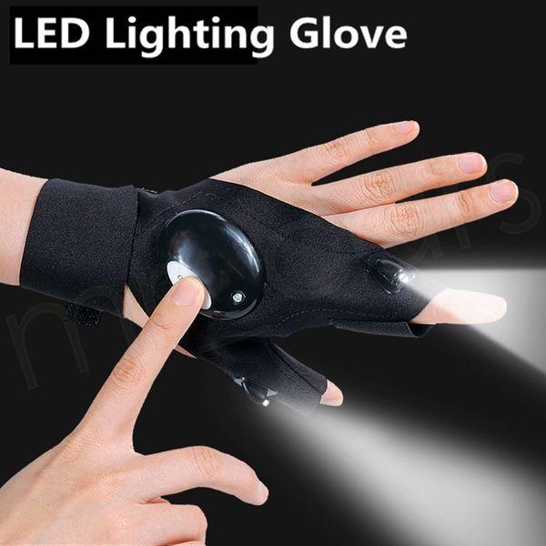 Illuminazione Guanto Notte Autofficina Guanto LED Night Light Guanto pesca sospensione Bait notte della lampada forniture di pesca HHAA247