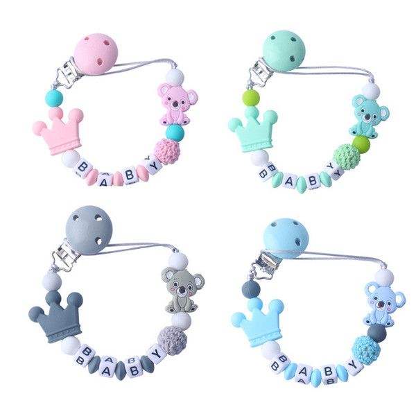 Baby Tooth Silicone Pacifier Chain Kids Grinding Teeth Chain Koala Cartoon Creative Gifts Child Travel Kit Silicone Toy