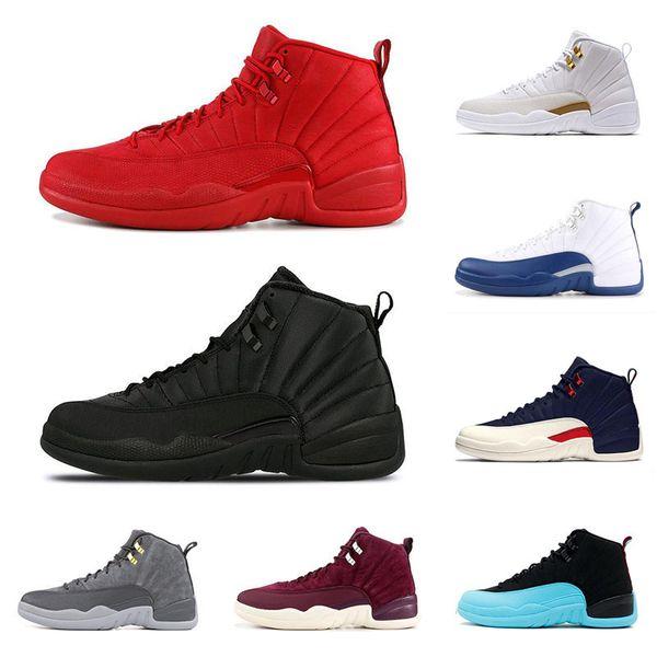 12 12s Chaussures De Basketball Pour Hommes 2019 Nouveau Gym Rouge Michigan College Marine Classique CNY PLAYOFF Designer XII Sport Sneakers Formateurs 40-47