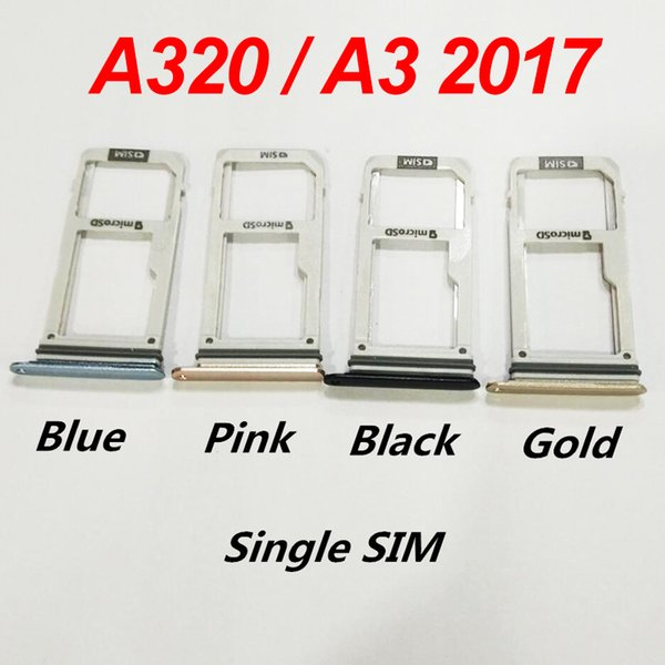 New SIM reader socket module For Samsung Galaxy A3 2017 A320 A320F SIM Holder Slot Adapter Repair Parts