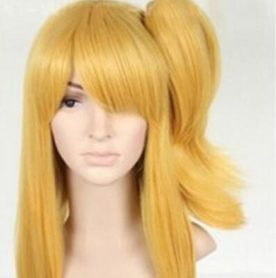 LL HOT Free Shipping >>>New Cosplay Fairy Tail Lucy Silver Soat wig + Clip on Ponytail