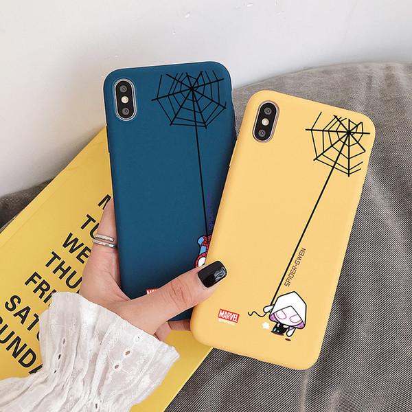 Мода Человек-паук шаблон прозрачный телефон чехол для Iphone X XS MAX XR 7 7plus 8 8plus 6 6s плюс задняя сторона обложки Anti-Shock Shell