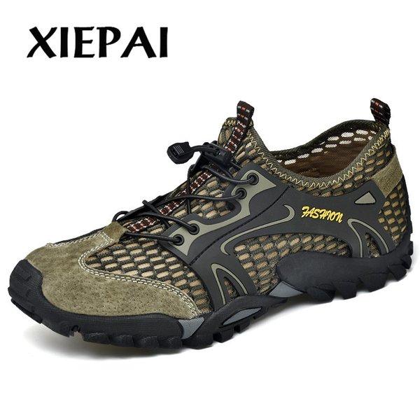 2019 Men's Summer Breathable Hiking Shoes Male Cutout Men's Shoes Movement Outdoor Leisure Sandals Mesh Breathable