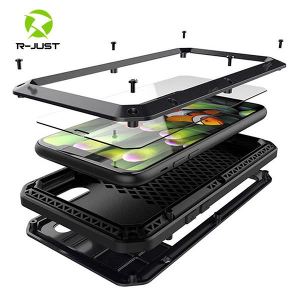 Funda de aluminio de metal para iPhone XS MAX XR X 6 6S 7 8 Plus 5S SE 5 5C 4S Funda de cuerpo completo a prueba de golpes Funda