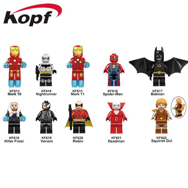 Block Puzzle The Avengers ABS Minifig Captain America Iron Man Batman ctible Model Retail action figures surprise doll