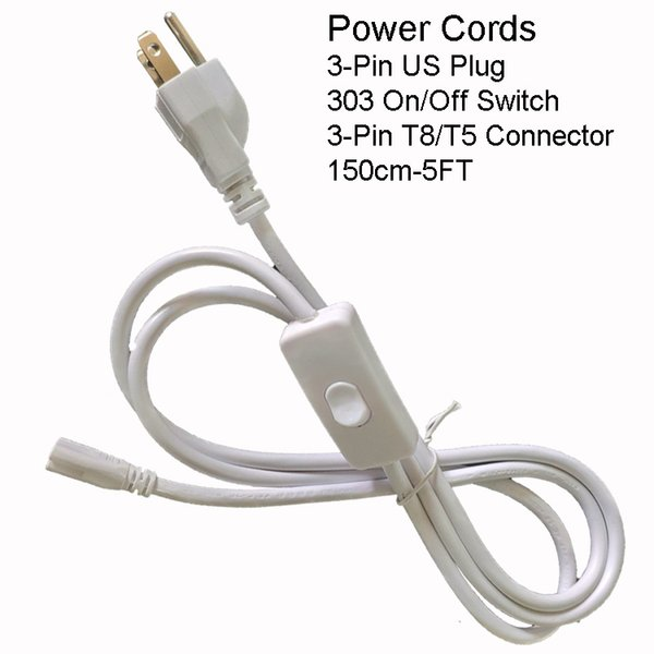 150CM 3PIN US Power Cords With Switch