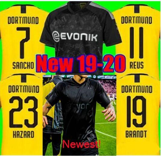 Maillots Football 2019 2020 Reus Borussia Dortmund 100th Anniversary Blackout Kit Soccer Jerseys Witsel Goalkeeper Weidenfeller Shirt Black Yellow Buy At The Price Of 15 18 In Dhgate Com Imall Com