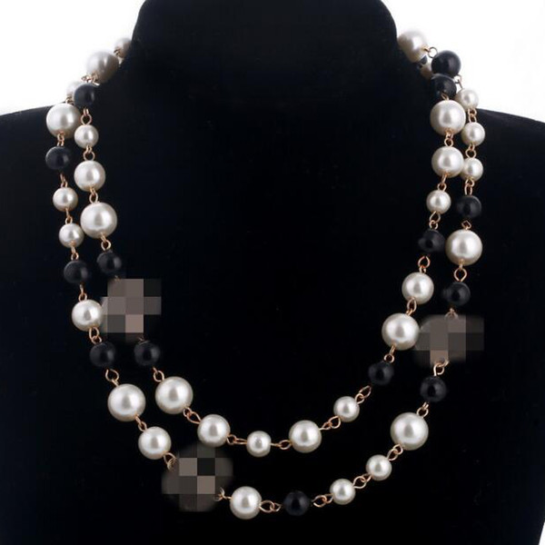 top popular 2020 Korean Long Sweater Chain Colar Maxi Necklace Simulated Pearl Flowers Necklace Women Fashion Jewelry bijoux femme Christmas Gifts 2021
