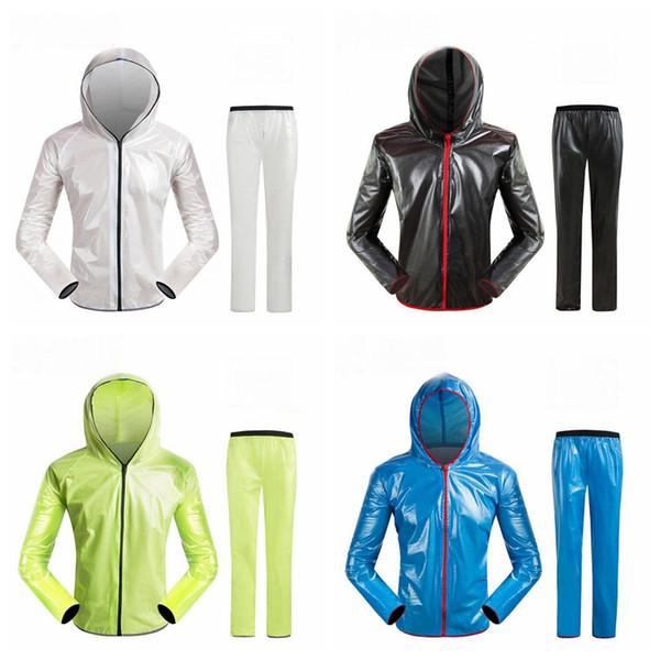 Outdoor split raincoat rain pantsat vestito adulto impermeabile PVC alpinismo neve equitazione poncho bicicletta impermeabile LJJZ46