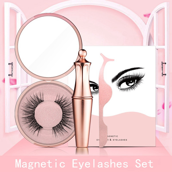 1Set Natural Look False Lashes Eyeliner Magnetic Eyelashes Set Long Extension False Eyelashes Women Eyes Makeup Beauty Tools