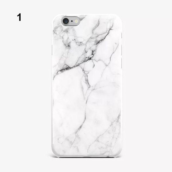 Moda IMD Silikon Mermer Telefon Kılıfları iPhone 8 Için 7 6 6 S Artı Ultrathin Mat Yumuşak TPU Jel Kılıf Koruyucu Kabuk Kapakları
