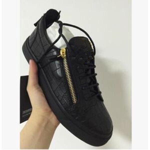 cost charm reputable site lowest discount 2019 Hot New Zanotti Zipper Women Men Shoes Hot Sell Black Running ...