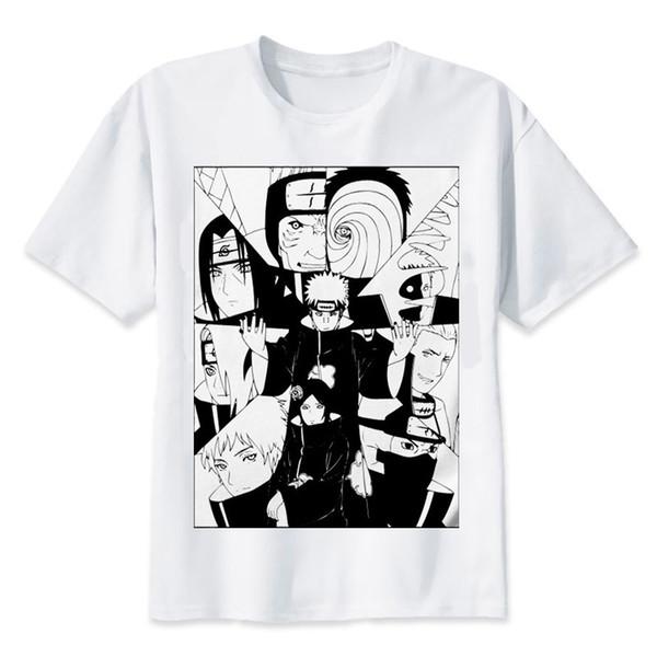 2019 Naruto Boruto T Gömlek Erkekler çocuklar Uchiha Itachi Uzumaki Sasuke Kakashi Gaara Japonya Anime Fuuny En Tee gömlek Homme T-Shirt