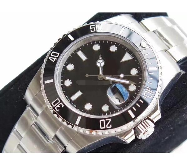 N factory V7 Eta 2836 Movimiento Banda Reloj Verde Cerámica Zafiro Cristal 40mm 116610 116610LV Nuevo estilo caja original Reloj de pulsera