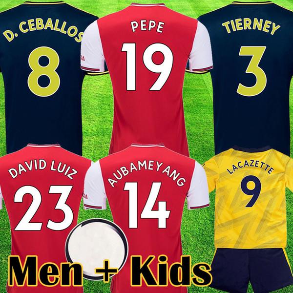 2019 2020 Red soccer jerseys 19 20 ArSen away yellow shirt 2019 2020 tops kits Camiseta de futbol maillot de foot