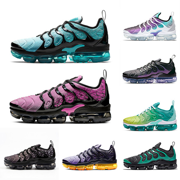 Nike air vapormax plus tn shoes Megatron Bumblebee TN Plus Men Running Shoes GRAPE Hyper Blue Rainbow Game Royal Mens women Black Green Volt sports sneakers 36-45