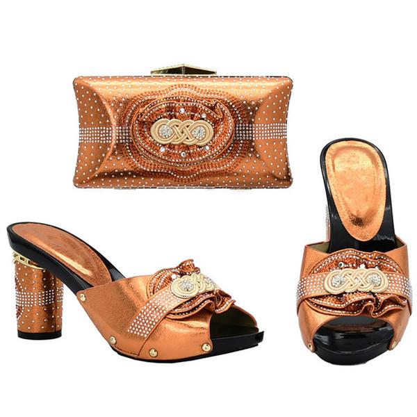 2019 brand fashion designer luxury handbags purses African Heeled shoes bag set for women Easter Day Dames Schoenen Strass Hoge Hakken elega
