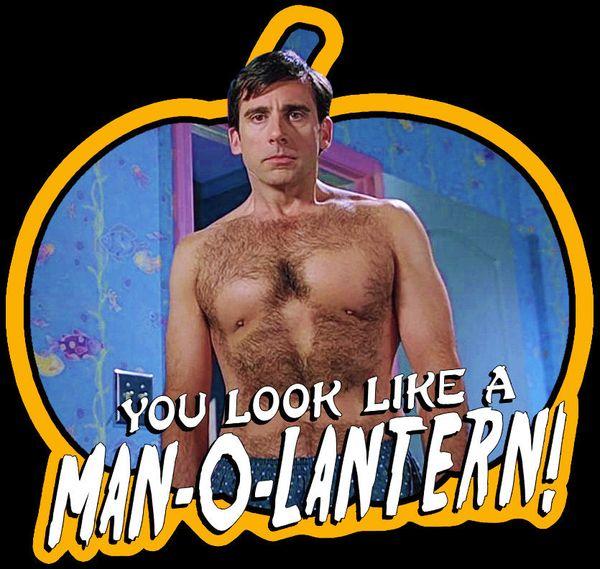 "00's Comedy Classic 40 Year Old Virgin ""Man-O-Lantern"" custom tee Any Size denim clothes camiseta t shirt"