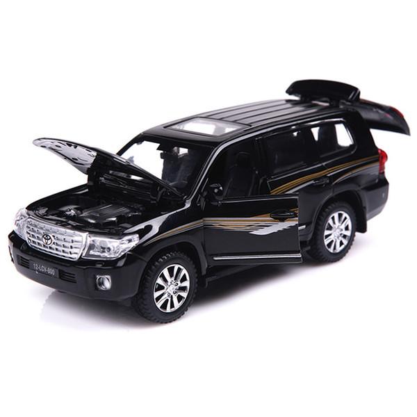 Toy Car 01:32 SUV LAND CRUISER V8 Modelo de Simulação Alloy Pull Back Brinquedos Genuíno Licença Gift Collection Off-Road