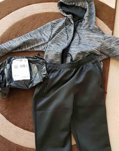 Mens Designer Survêtement Marque Veste Costume rayé à capuche Survêtement Fashion Style Zipper Marque Vestes Pull Tops Costumes Pantalons