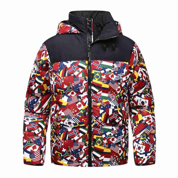2019 Nouveaux hiver Gardez Homme chaud North Down Veste courte détachable Cap Thicken Mode jeunesse de canard blanc manteau visage coupe-vent manches xxf9168