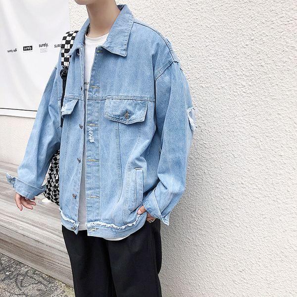 Autumn Jacket Men Spring New Arrival Fashion Denim Blazer Men Korean Slim