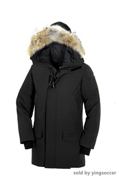 2019 Invierno Fourrure abajo Homme Jassen Daunejacke prendas de vestir exteriores encapuchada de la piel de Big Fourrure Manteau abajo cubren lan Hiver Doudoune Chaqueta