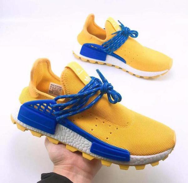 Дешевые 3Human Race Shoes DiscounColor Human Race Factory Реальные Сапоги Желтый Красный Черный Оранжевый Мужчины Фаррелл Уильямс X Человек оптовые мокасины