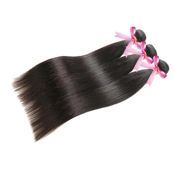 Capelli lisci 3/4 bundles capelli vergini vergini brasiliani dritto 8-30 pollici urmeili bel 100% tessuto dei capelli umani di Remy Remy macchina doppia trama