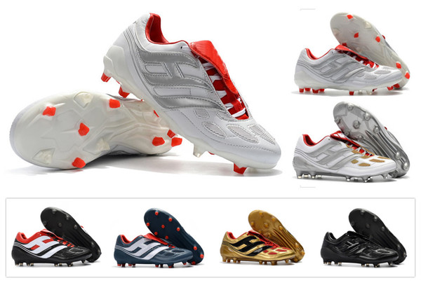 Classics Predator Precision Accelerator Electricity FG DB David Beckham 23 V 5 5s Men Soccer Shoes Cleats Football Boots Size 39-45