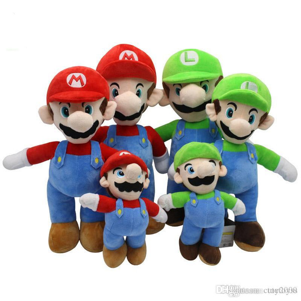 Pretty store Pretty 25cm 35cm 40cm Super Mario Bros Peluche Mario e Luigi Peluche Peluche per regali