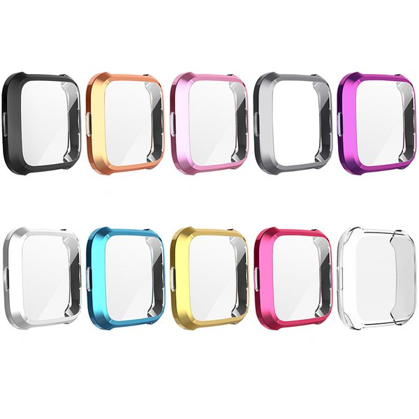 For Fitbit Versa Lite 2 Series 2 Watch TPU Full Screen Protector Protect Frame Case Cover