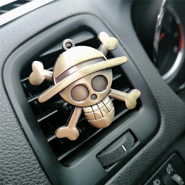 Desenhos animados Air Freshener Clipe Car Styling Perfume para a condição Air Vent The One Piece Luffy palha Fãs sinal chapéu de pirata D3