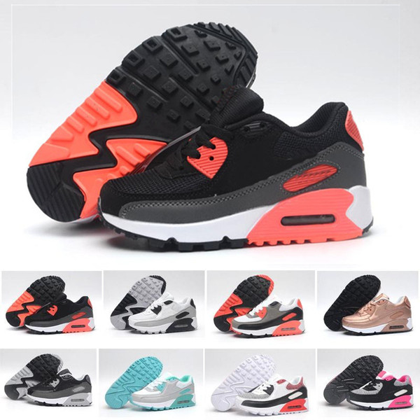 best selling Kids Sneakers Presto 90 II shoe Children Sports Orthopedic Youth Kids trainers Infant Girls Boys running shoes 9 Colors Size 28-35