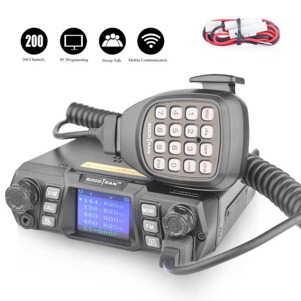 In Moscow Walkie Talkie 980Plus Dual Band 75W High Power 2 Way Radio 136  174MHz&400 480MHz VHF UHF Mobile Car Radio Transceiver Walkie Talkie Watch