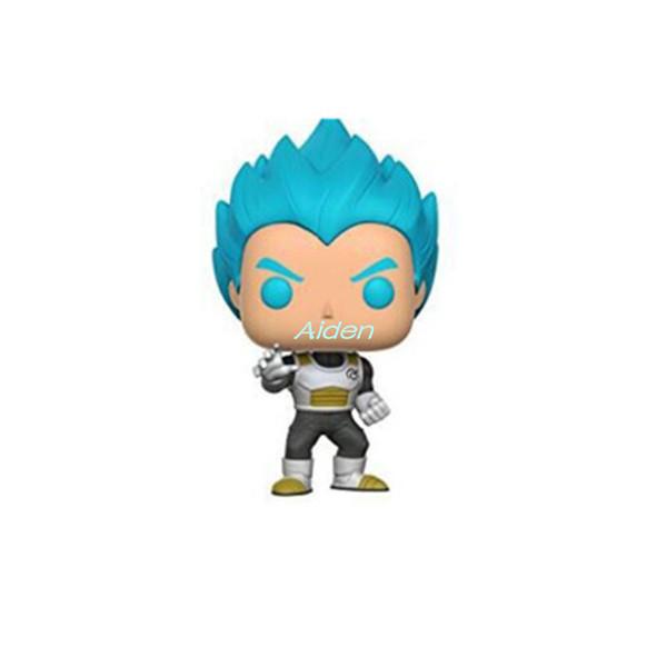 Q Версия Креативный POP Dragon Ball Z Fighters Супер Саян Gogeta День подарков Art Craft ПВХ Действие Коллекционная модель игрушки 10CM BOX G586