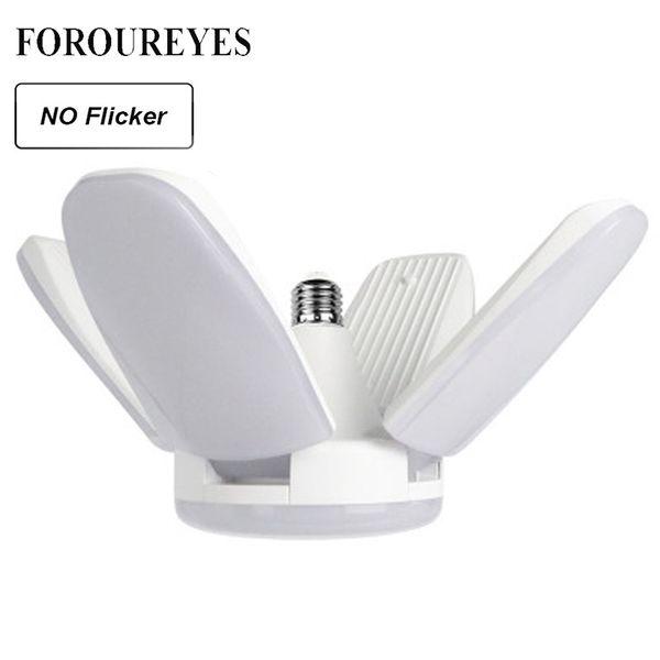 100V-265V E27 LED Bulb Super Bright Foldable Fan Blade Angle Adjustable Ceiling Lamp Home Energy Saving Lights Factory Direct