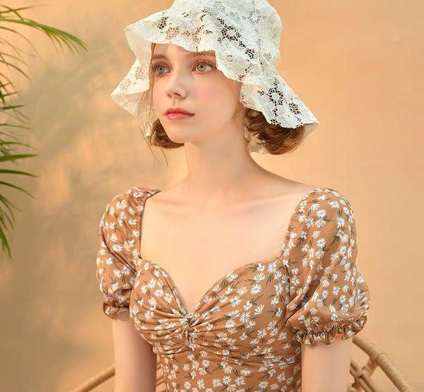 01908-fu56847881 summer fashion lace lady bucket cap women holiday beach hat