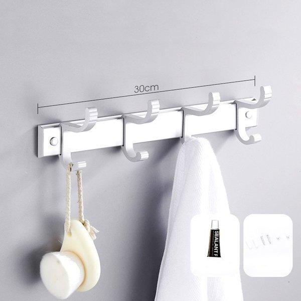 Rail de support suspendu en aluminium d'espace mural avec crochets amovibles organisant pour bureau à la maison cuisine cuisine salle de bains