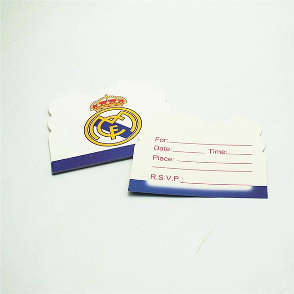 Compre Tarjetas De Invitación Para El Fútbol De Dibujos Animados Real Madrid Theme Party Use Para Invitar A Sus Amigos A Unirse A La Fiesta A 34 45