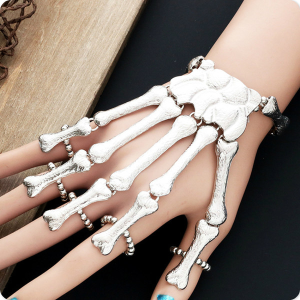 skeleton bone women bracelets rock punk hand accessories bangles unique gifts for girl jewelry accessories creativity gift