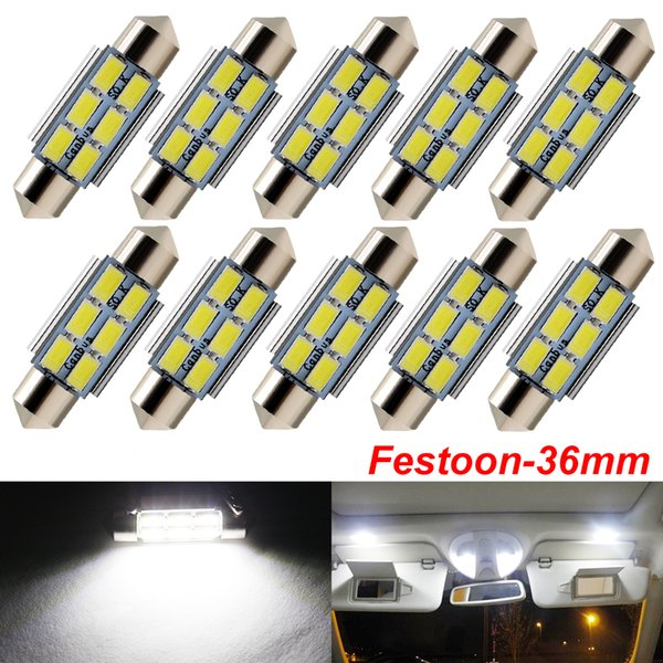 C5W C10W Festoon 36mm Bombillas LED CANBUS 5630 SMD Blanco Para Coche Auto Interior Domo Mapa Lectura Lámpara Matrícula Luces DC 12V