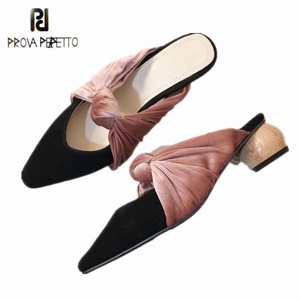 Prova Perfetto Voll Low Heel Schuhe Mode sexy Sommer Frauen Sandalen Marke Flip Flops Strand Sandalen Rutschen Schuhe