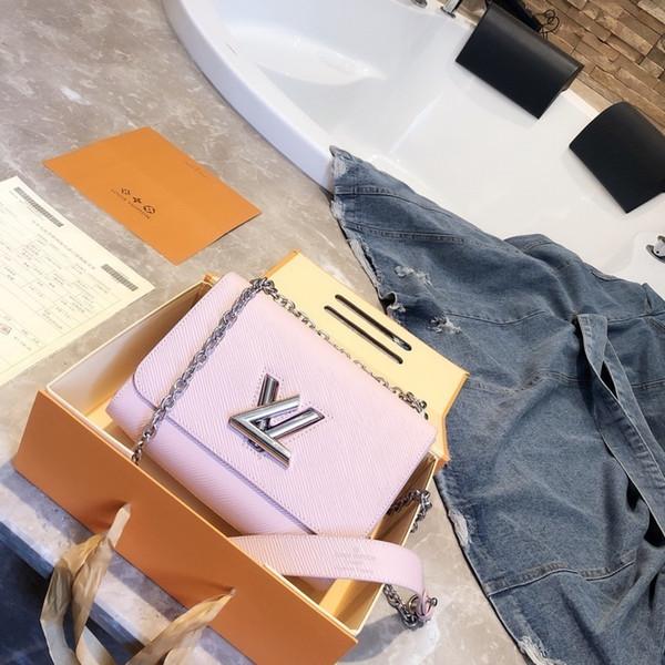 2019 Nuovo elenco Hot elemento preferito delle donne borsa a tracolla moda Impeccabile Fondo ondulato Variabile chainin