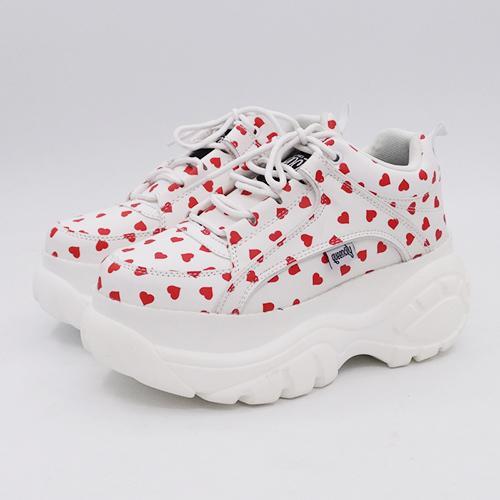 Weiß mit roten Herz-7
