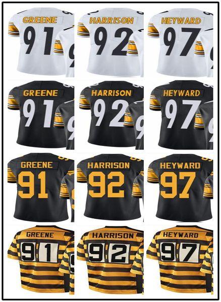 wholesale dealer 88fad 260ca 2019 Custom Pittsburgh Steelers Jerseys#91 Kevin Greene 92 James Harrison  97 Cameron Heyward Jerseys#YOUTH#Men'S Limited Rugby Jerseys From ...