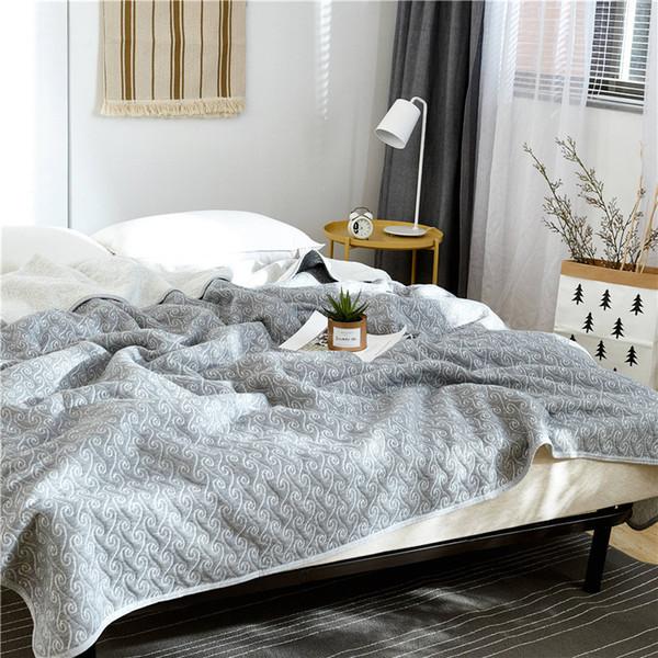 Couvre-lit en coton jette des couvertures de plaids Couvre-lits d'été mince couette couture couette couette textile à la maison pour adultes convenant aux enfants